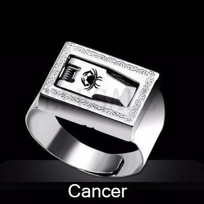 12 Constellation Stainless Steel Self Defense Tactical Ring Emergency Safety Tools Outdoor Hidden-Self Defense Supplies-SaleAdWords, AdWords 2018, ApparelELESALE Store-Cancer-EpicWorldStore.com