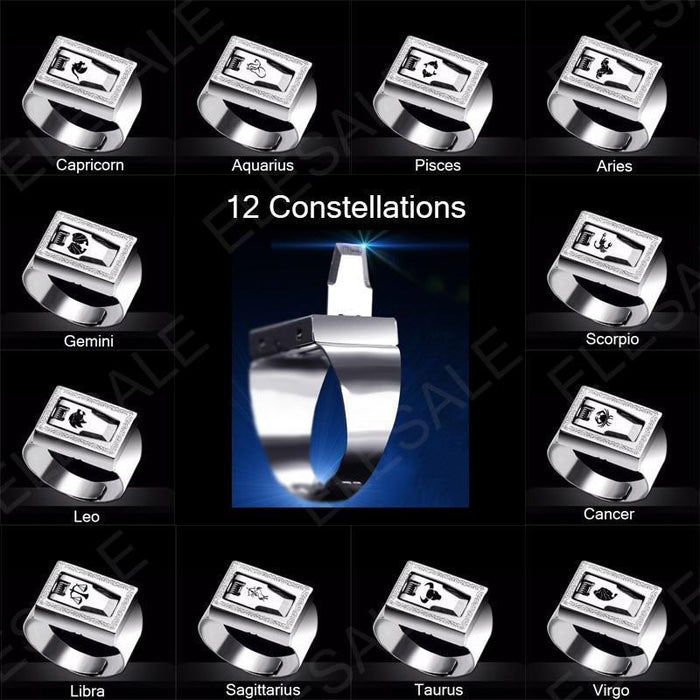 12 Constellation Stainless Steel Self Defense Tactical Ring Emergency Safety Tools Outdoor Hidden-Self Defense Supplies-SaleAdWords, AdWords 2018, ApparelELESALE Store-Capricorn-EpicWorldStore.com