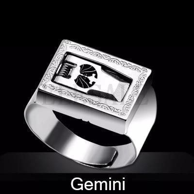 12 Constellation Stainless Steel Self Defense Tactical Ring Emergency Safety Tools Outdoor Hidden-Self Defense Supplies-SaleAdWords, AdWords 2018, ApparelELESALE Store-Gemini-EpicWorldStore.com