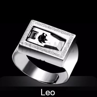 12 Constellation Stainless Steel Self Defense Tactical Ring Emergency Safety Tools Outdoor Hidden-Self Defense Supplies-SaleAdWords, AdWords 2018, ApparelELESALE Store-Leo-EpicWorldStore.com