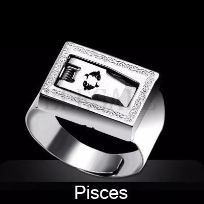 12 Constellation Stainless Steel Self Defense Tactical Ring Emergency Safety Tools Outdoor Hidden-Self Defense Supplies-SaleAdWords, AdWords 2018, ApparelELESALE Store-Pisces-EpicWorldStore.com