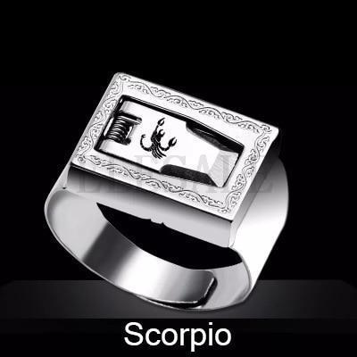 12 Constellation Stainless Steel Self Defense Tactical Ring Emergency Safety Tools Outdoor Hidden-Self Defense Supplies-SaleAdWords, AdWords 2018, ApparelELESALE Store-Scorpio-EpicWorldStore.com