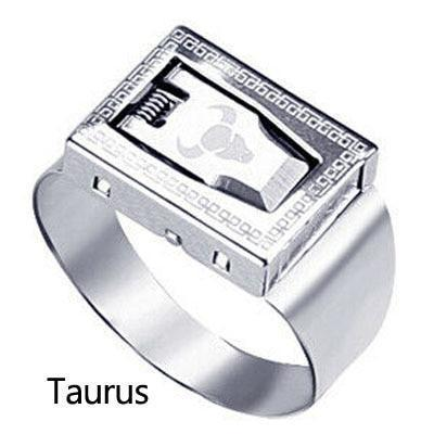 12 Constellation Stainless Steel Self Defense Tactical Ring Emergency Safety Tools Outdoor Hidden-Self Defense Supplies-Shop4405201 Store-Gray-EpicWorldStore.com