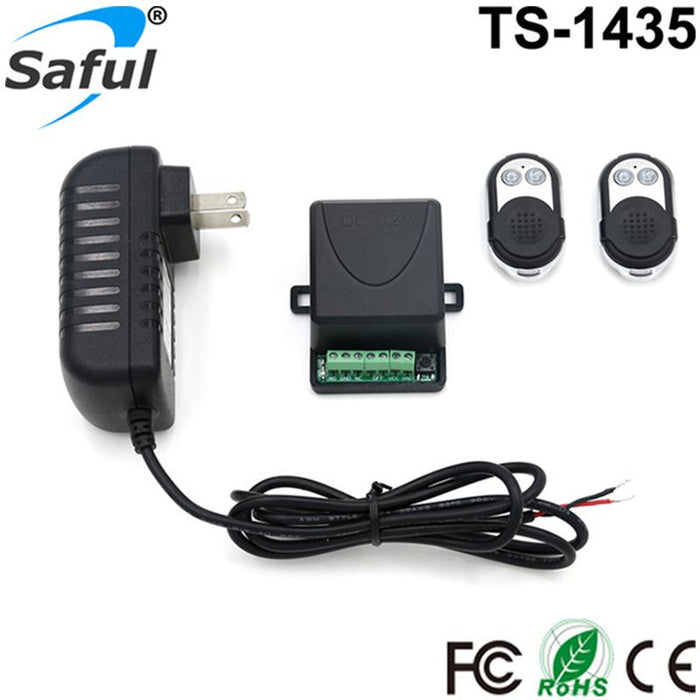 12V 433Mhz Electric Lock Remote Control+Remote Unlock Door Access Switch  Electric Control Lock