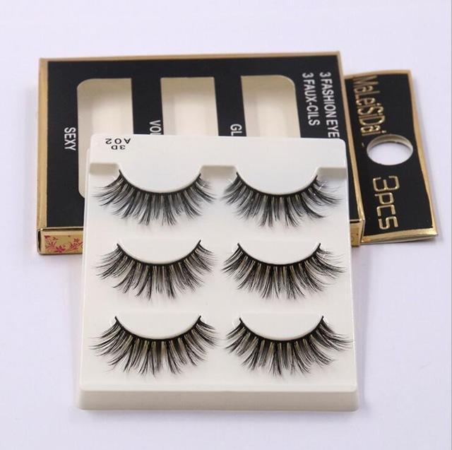 13 Different Styles Stylish 100% Handmade 3D Mink Hair Beauty Thick Long False Mink Eyelashes Fake-Makeup-Sexy eyelash Store-A02-EpicWorldStore.com