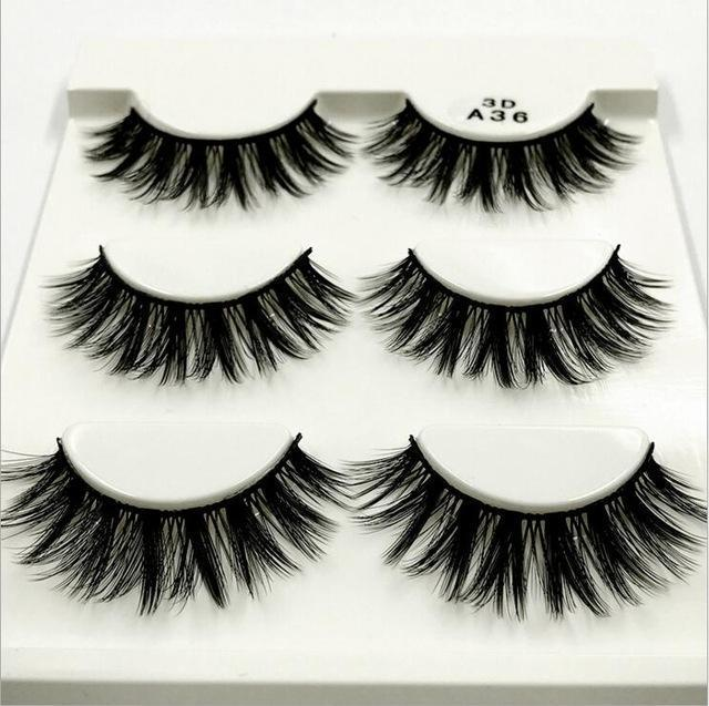 13 Different Styles Stylish 100% Handmade 3D Mink Hair Beauty Thick Long False Mink Eyelashes Fake-Makeup-Sexy eyelash Store-A36-EpicWorldStore.com