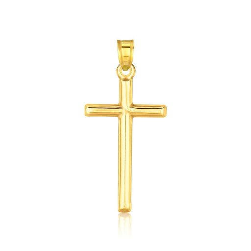 14K Yellow Gold High Polish Cross Pendant-Jewelry-EpicWorldStore.com-EpicWorldStore.com