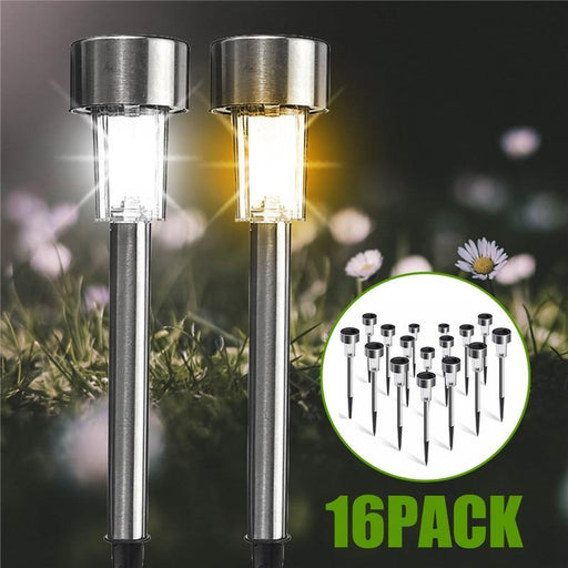 16 Pack Solar Garden Lights Outdoor Solar Powered Pathway Lights Outdoor Landscape Spot Lights Led-LED Lawn Lamps-Mising Official Store-16pcs white-EpicWorldStore.com