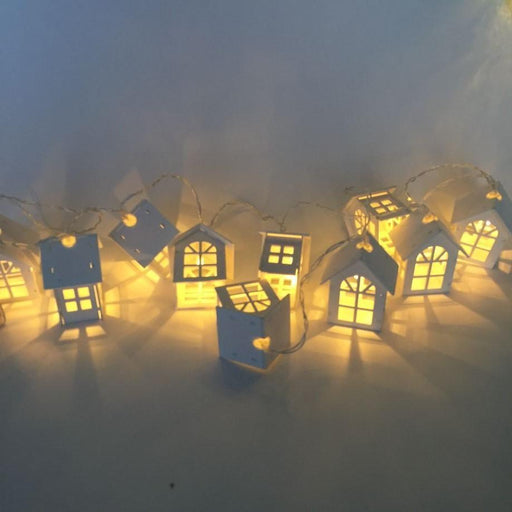 1.65M 10Led House Shaped Led String Light For Indoor Decoration, Girl'S Room Decorative String-Holiday Lighting-Kitchenware Store-White-EpicWorldStore.com