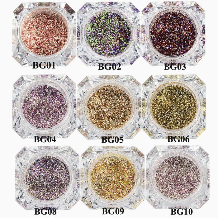 1Box Platinum Shiny Nail Glitter Powder Laser Sparkly Diamond Manicure Nail Art Chrome Pigment Diy-Nails & Tools-SWEETTREND nail art Store-01-EpicWorldStore.com