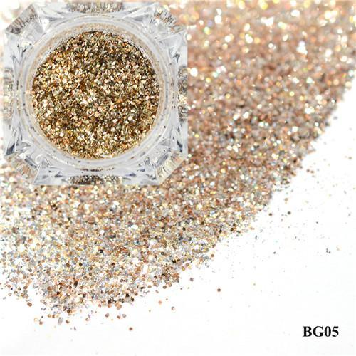 1Box Platinum Shiny Nail Glitter Powder Laser Sparkly Diamond Manicure Nail Art Chrome Pigment Diy-Nails & Tools-SWEETTREND nail art Store-05-EpicWorldStore.com
