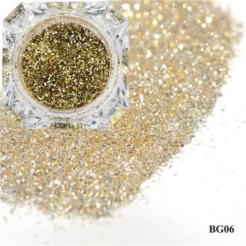 1Box Platinum Shiny Nail Glitter Powder Laser Sparkly Diamond Manicure Nail Art Chrome Pigment Diy-Nails & Tools-SWEETTREND nail art Store-06-EpicWorldStore.com