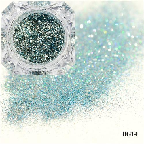 1Box Platinum Shiny Nail Glitter Powder Laser Sparkly Diamond Manicure Nail Art Chrome Pigment Diy-Nails & Tools-SWEETTREND nail art Store-14-EpicWorldStore.com