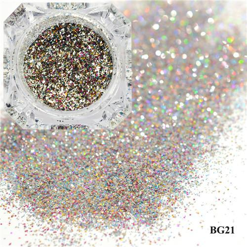 1Box Platinum Shiny Nail Glitter Powder Laser Sparkly Diamond Manicure Nail Art Chrome Pigment Diy-Nails & Tools-SWEETTREND nail art Store-21-EpicWorldStore.com