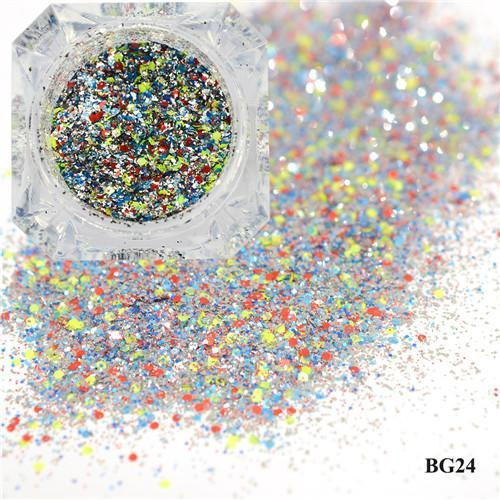 1Box Platinum Shiny Nail Glitter Powder Laser Sparkly Diamond Manicure Nail Art Chrome Pigment Diy-Nails & Tools-SWEETTREND nail art Store-24-EpicWorldStore.com