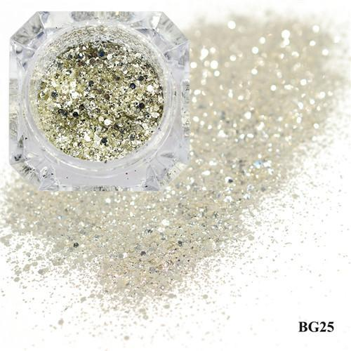 1Box Platinum Shiny Nail Glitter Powder Laser Sparkly Diamond Manicure Nail Art Chrome Pigment Diy-Nails & Tools-SWEETTREND nail art Store-25-EpicWorldStore.com