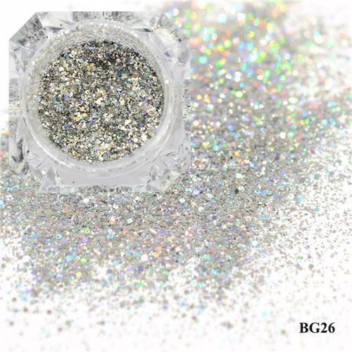 1Box Platinum Shiny Nail Glitter Powder Laser Sparkly Diamond Manicure Nail Art Chrome Pigment Diy-Nails & Tools-SWEETTREND nail art Store-26-EpicWorldStore.com