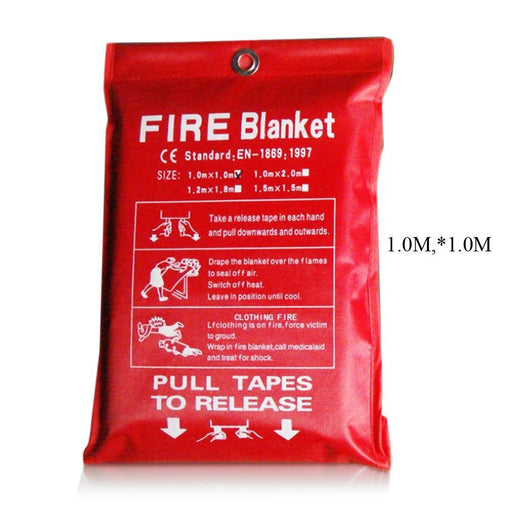 1M X 1M Fire Blanket Fiberglass Fire Flame Retardant Emergency Survival White Fire Shelter Safety-Fire Blanket-LGuan Store-EpicWorldStore.com