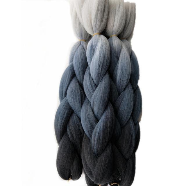 1pack Pervado Hair Ombre Jumbo Braids Hair Extensions 24 100g High