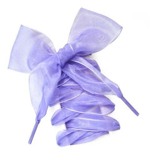 1Pair 110Cm Shoestrings Women Shoelaces Flat Silk Satin Ribbon Shoe Laces Sneakers Sport-Shoe Accessories-Lavender Store-Purple-EpicWorldStore.com