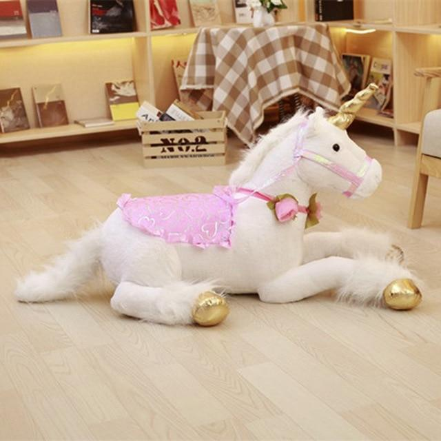 1pc 100cm Huge Cute Unicorn Horse Plush Toys Colorful Stuffed Animal