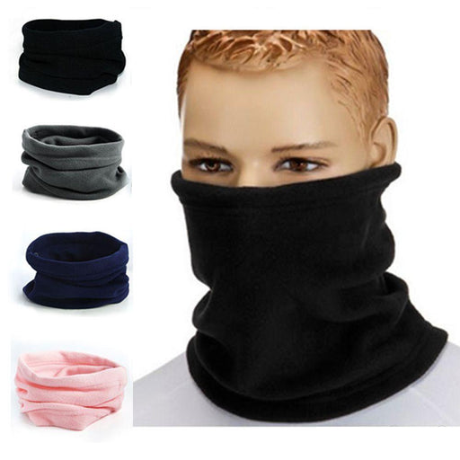 1Pc 3In1 Winter Unisex Women Men Sports Thermal Fleece Scarf Snood Neck Warmer Face Mask Beanie Hats-Accessories-Cool&Good Fashion Watch Co.,Ltd.-Black-EpicWorldStore.com