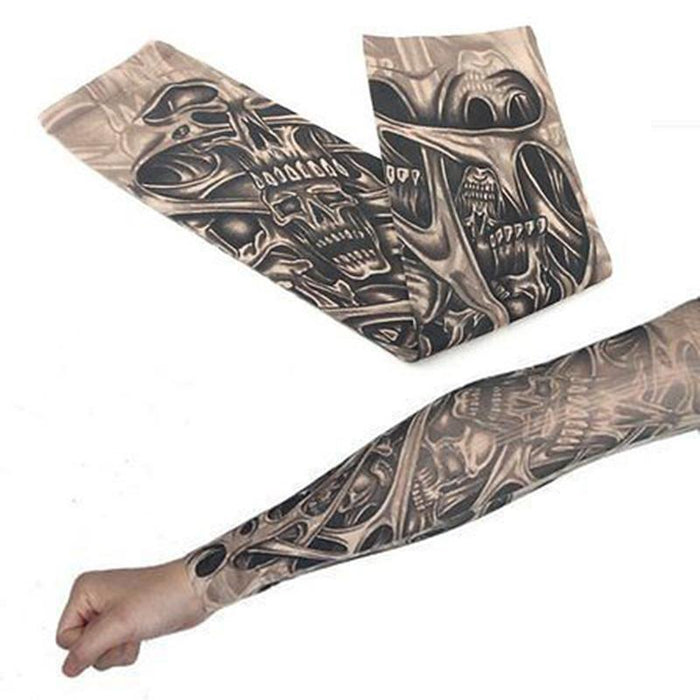 Men's Arm Warmers High Quality 20 Pcs Temporary Fake Slip On Tattoo Arm Sleeves Kit Summer Unisex Fashion Arm Stockings Body Art Accessories Men's Accessories