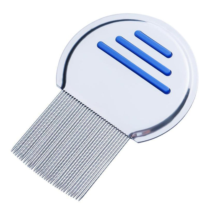 1Pc Stainless Steel Terminator Lice Comb Nit Free Kids Hair Rid Headlice Super Density Teeth-Hair Care & Styling-001 Beautiful Woman Store-blue-EpicWorldStore.com