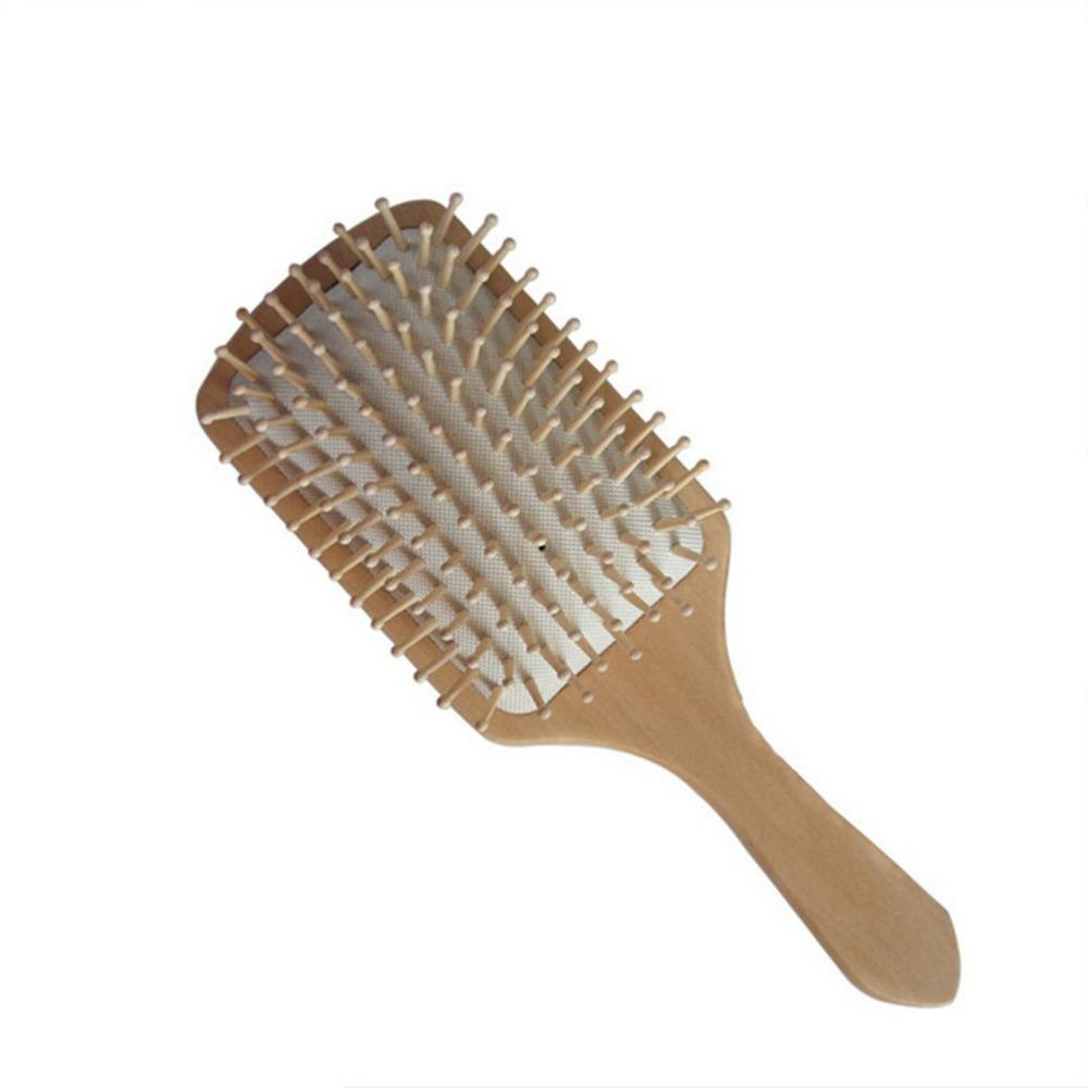 1Pcs 2 Colors Hair Care Wooden Spa Massage Comb Wooden Paddle Pointed Handle Teeth Hair Brush-Hair Care & Styling-Fashion Store NO.1-Black-EpicWorldStore.com