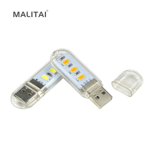 1Pcs Novelty Mini Usb Led Lamp Book Lights 3 Leds 5730 Smd 1.5W Camping Bulb For Pc Laptops Notebook-Novelty Lighting-MALITAI Official Store-White-EpicWorldStore.com