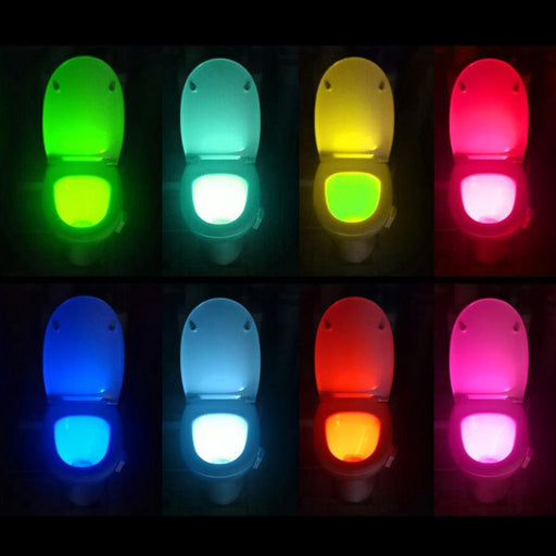 1Pcs Pir Motion Sensor Toilet Seat Novelty Led Lamp 8 Colors Auto Change Infrared Induction Light-Novelty Lighting-Lilyworld Store-EpicWorldStore.com