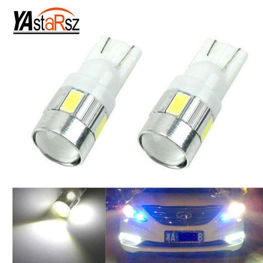 1X Car Styling Car Auto Led T10 194 W5W Canbus 10 Smd 5630 Led Light Bulb No Error Led Light Parking-Car Lights-Yastarsz 2 Store-Blue-EpicWorldStore.com