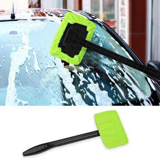2 Colors Windshield Easy Cleaner - Microfiber Auto Window Cleaner Clean Hard-To-Reach Windows On-Car Wash & Maintenance-Orange Stars-Blue-EpicWorldStore.com
