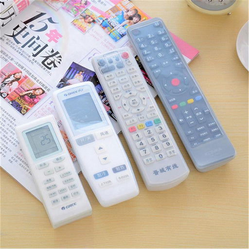 2 Pc Remote Control Cover Silicone Transparent Tv Remote Control Case Air Conditioning Dust-Household Merchandises-SeeJoy Zone Store-185X50X20mm-EpicWorldStore.com