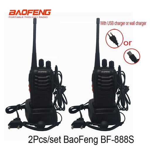 2 Pcs/Set Cheapest Walkie Talkie Baofeng Bf-888S 5W 16Ch Uhf 400-470Mhz Bf 888S Interphone Baofeng-Communication Equipments-ET Store-with programcable-EpicWorldStore.com