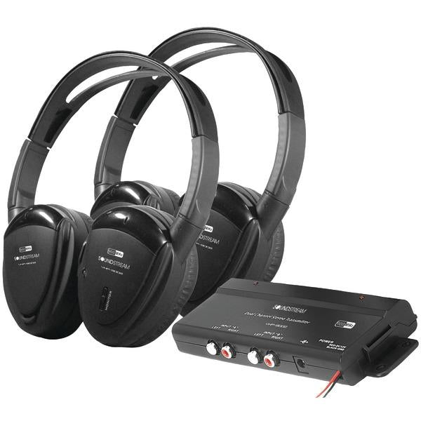 2 Sets Of 2-Channel Rf 900Mhz Wireless Headphones With Transmitter-Automotive Marine & GPS-POWER ACOUSTIK(R)-EpicWorldStore.com