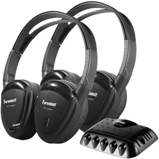 2 Sets Of Single-Channel Ir Wireless Headphones With Transmitter-Automotive Marine & GPS-POWER ACOUSTIK(R)-EpicWorldStore.com