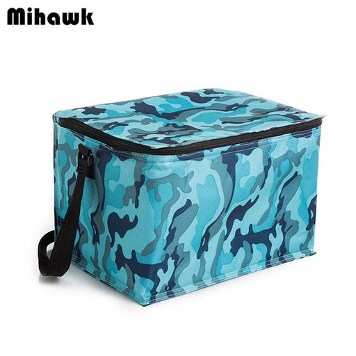 20L Extra Large Camouflage Cooler Bags Thermal Insulated Picnic Bag Box Travel Picnic Food Storage-Functional Bags-mihawk Official Store-Gray-EpicWorldStore.com