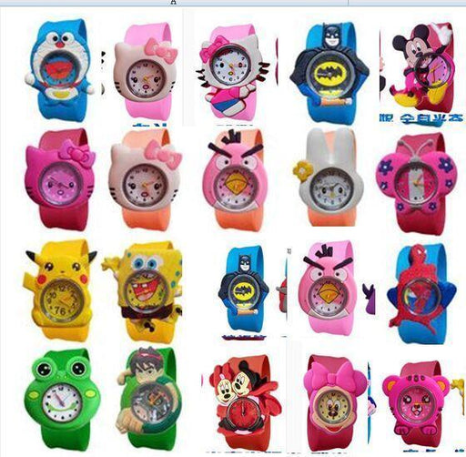 20Style Cartoon Slap Watch Sports Brand Cartoon Slap Wrist Watch For Children Hot Sale-Children's Watches-Babi Fu's store-rose-EpicWorldStore.com