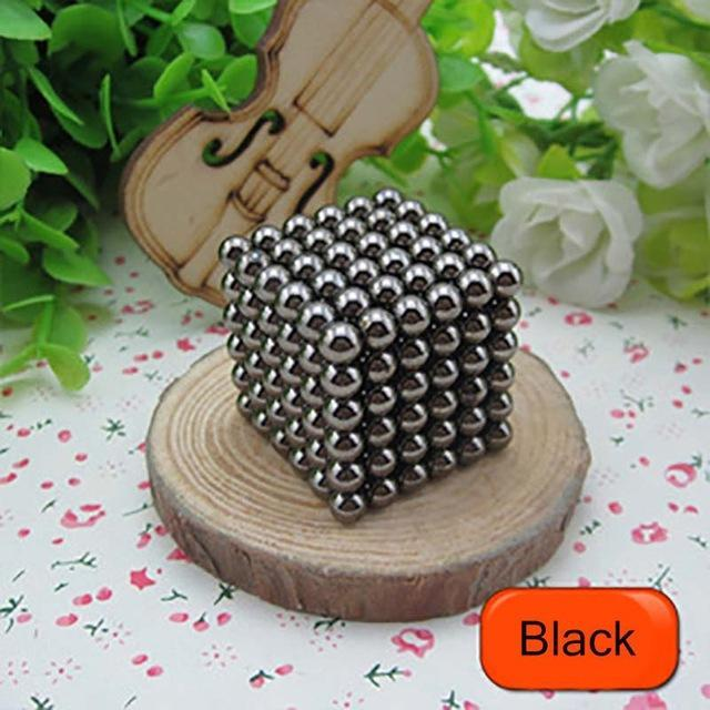 216 Pcs/Package 5Mm Magic Game 16 Kinds Diy Cubes Balls Puzzle Magnets Board Game With Metal Box-Entertainment-King Magic Stars Store-Black-EpicWorldStore.com