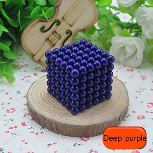 216 Pcs/Package 5Mm Magic Game 16 Kinds Diy Cubes Balls Puzzle Magnets Board Game With Metal Box-Entertainment-King Magic Stars Store-Deep purple-EpicWorldStore.com