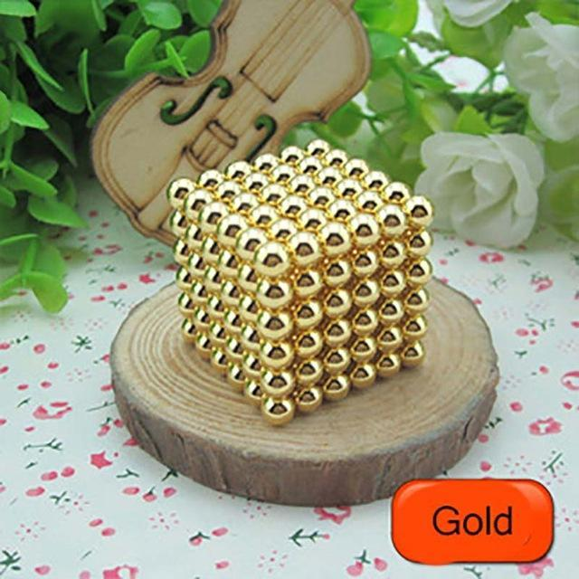 216 Pcs/Package 5Mm Magic Game 16 Kinds Diy Cubes Balls Puzzle Magnets Board Game With Metal Box-Entertainment-King Magic Stars Store-Gold-EpicWorldStore.com