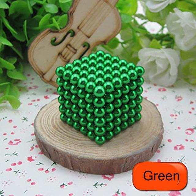 216 Pcs/Package 5Mm Magic Game 16 Kinds Diy Cubes Balls Puzzle Magnets Board Game With Metal Box-Entertainment-King Magic Stars Store-Green-EpicWorldStore.com