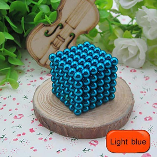 216 Pcs/Package 5Mm Magic Game 16 Kinds Diy Cubes Balls Puzzle Magnets Board Game With Metal Box-Entertainment-King Magic Stars Store-Light blue-EpicWorldStore.com