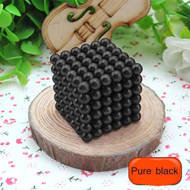 216 Pcs/Package 5Mm Magic Game 16 Kinds Diy Cubes Balls Puzzle Magnets Board Game With Metal Box-Entertainment-King Magic Stars Store-Pure black-EpicWorldStore.com
