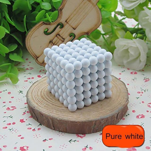 216 Pcs/Package 5Mm Magic Game 16 Kinds Diy Cubes Balls Puzzle Magnets Board Game With Metal Box-Entertainment-King Magic Stars Store-Pure white-EpicWorldStore.com