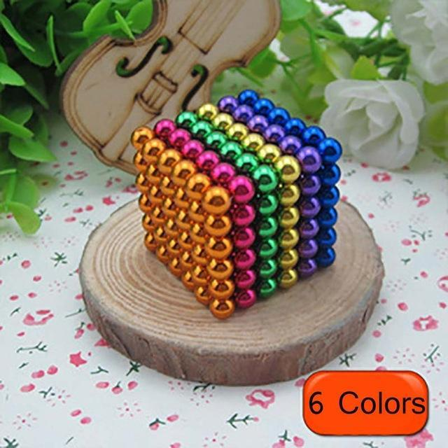 216 Pcs/Package 5Mm Magic Game 16 Kinds Diy Cubes Balls Puzzle Magnets Board Game With Metal Box-Entertainment-King Magic Stars Store-Random 6 colors-EpicWorldStore.com