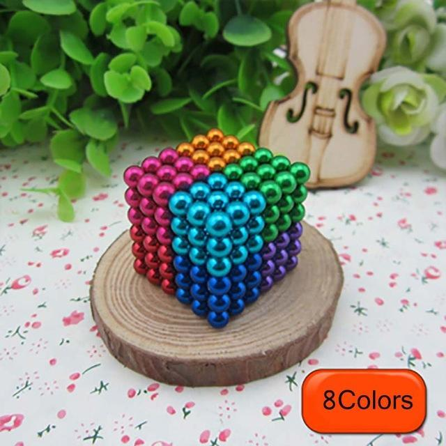 216 Pcs/Package 5Mm Magic Game 16 Kinds Diy Cubes Balls Puzzle Magnets Board Game With Metal Box-Entertainment-King Magic Stars Store-Random 8 colors-EpicWorldStore.com
