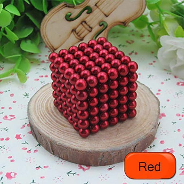 216 Pcs/Package 5Mm Magic Game 16 Kinds Diy Cubes Balls Puzzle Magnets Board Game With Metal Box-Entertainment-King Magic Stars Store-Red-EpicWorldStore.com