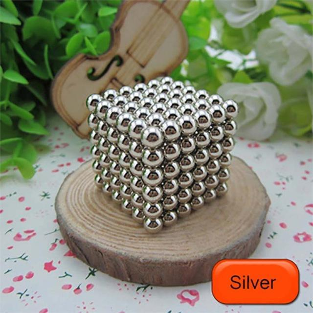 216 Pcs/Package 5Mm Magic Game 16 Kinds Diy Cubes Balls Puzzle Magnets Board Game With Metal Box-Entertainment-King Magic Stars Store-Silver-EpicWorldStore.com